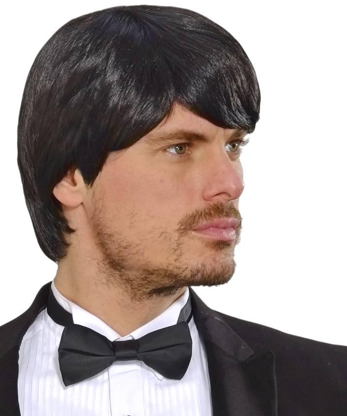 Perruque homme noire-P20308
