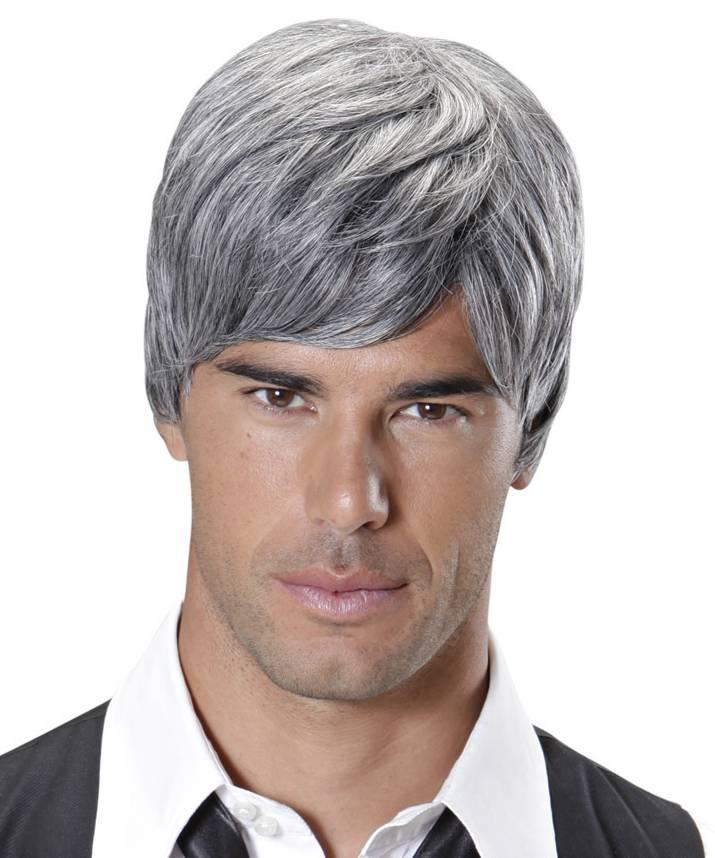 Perruque homme grise - Perruque de déguisement