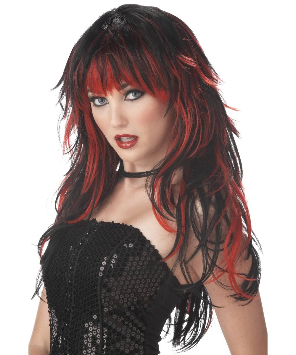 Perruque-Noire-et-rouge