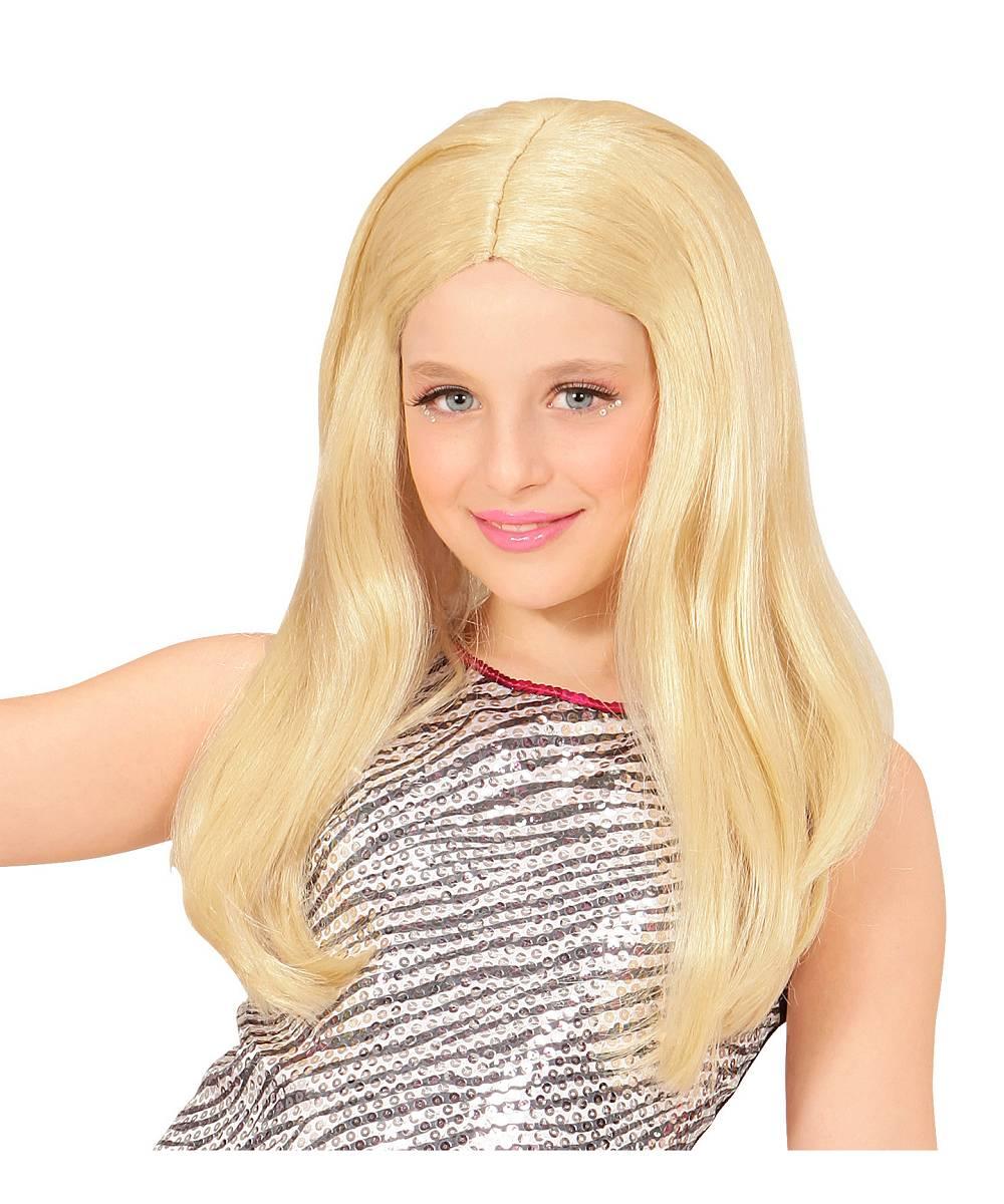 Perruque-Blonde-Longue-Fille