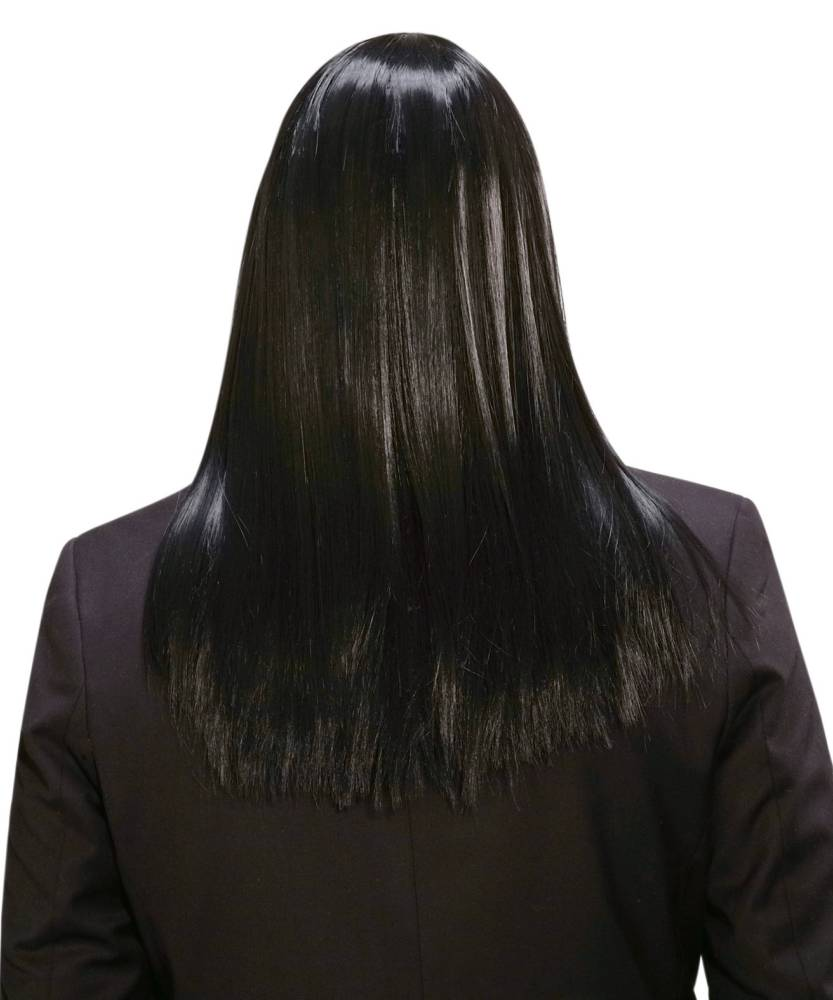 perruque homme cheveux longs noirs p20353. Black Bedroom Furniture Sets. Home Design Ideas