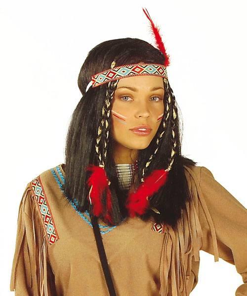 Perruque indienne femme - Perruque de déguisement