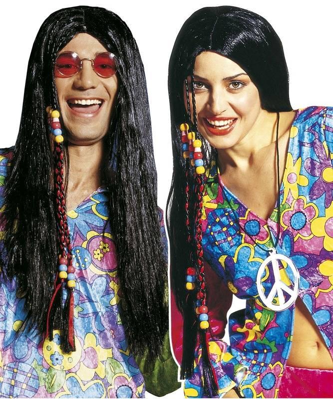 Perruque-Hippie-mixte-noire
