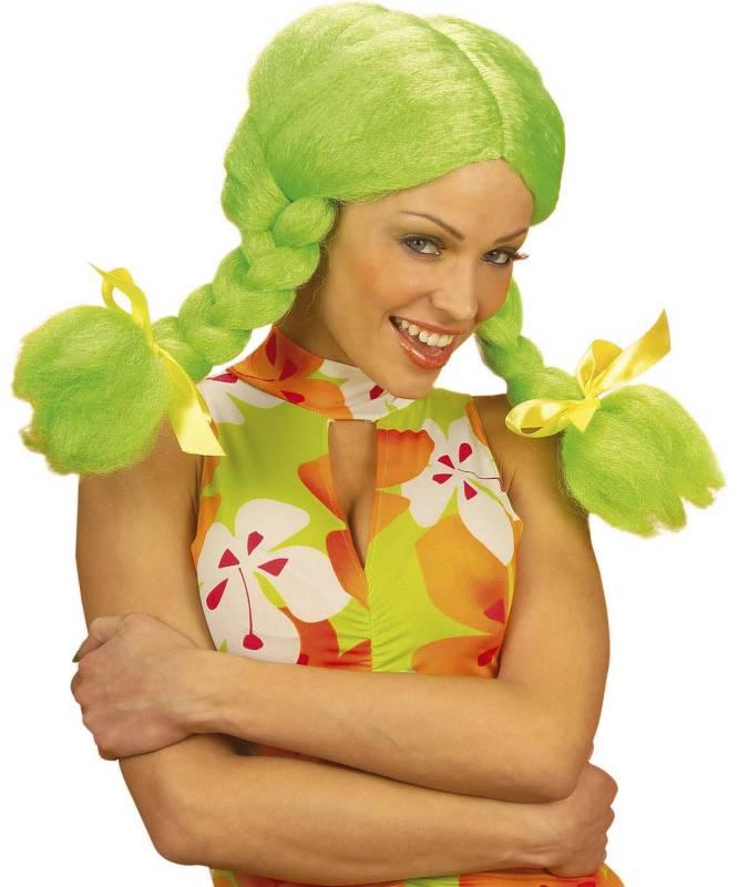 Perruque-Poupée-couettes-vertes