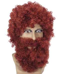 Perruque-Barbe-Rousse
