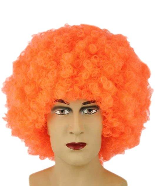 Perruque disco orange
