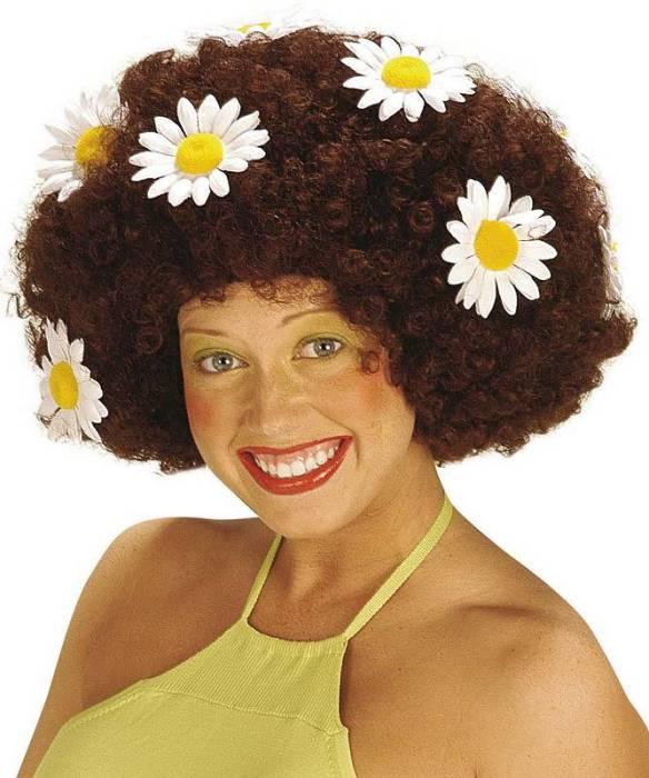 Perruque-Hippie-brune-mixte