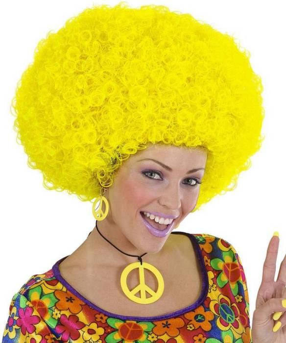 Perruque-Afro-Jaune-M1