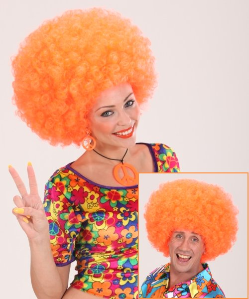 Perruque-Afro-Orange-M1