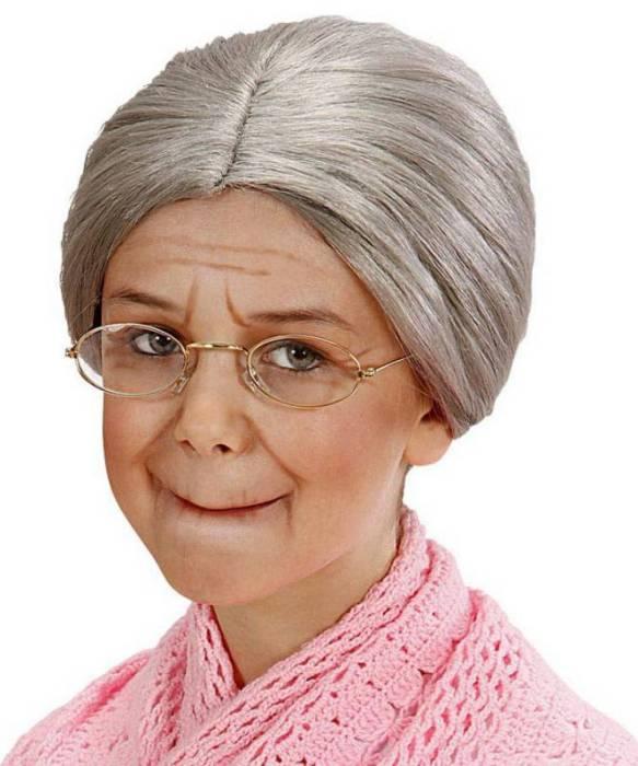 Perruque-Grand-mère-Enfant