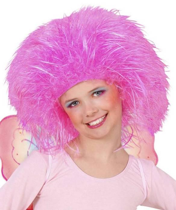Perruque-Enfant-rose-néon-Touffe
