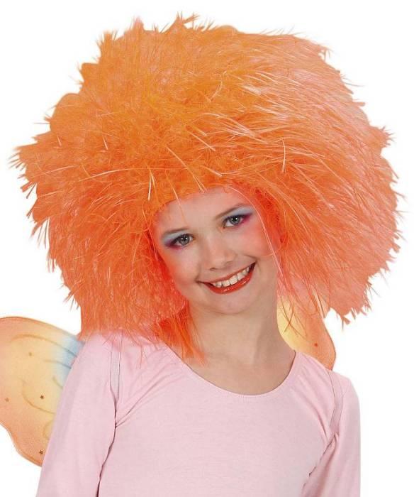 Perruque-Enfant-orange-néon