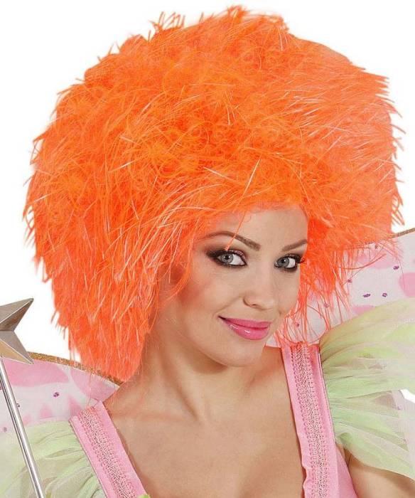 Perruque-Orange-néon
