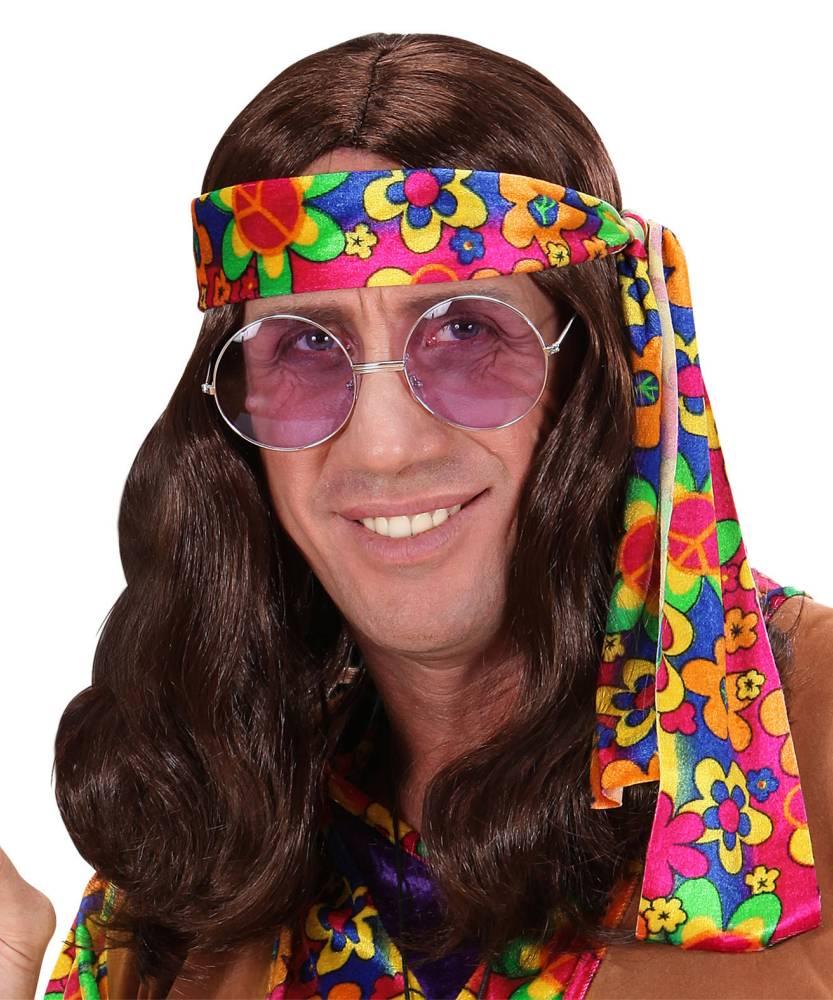Perruque-Hippies-Lennon-Brun