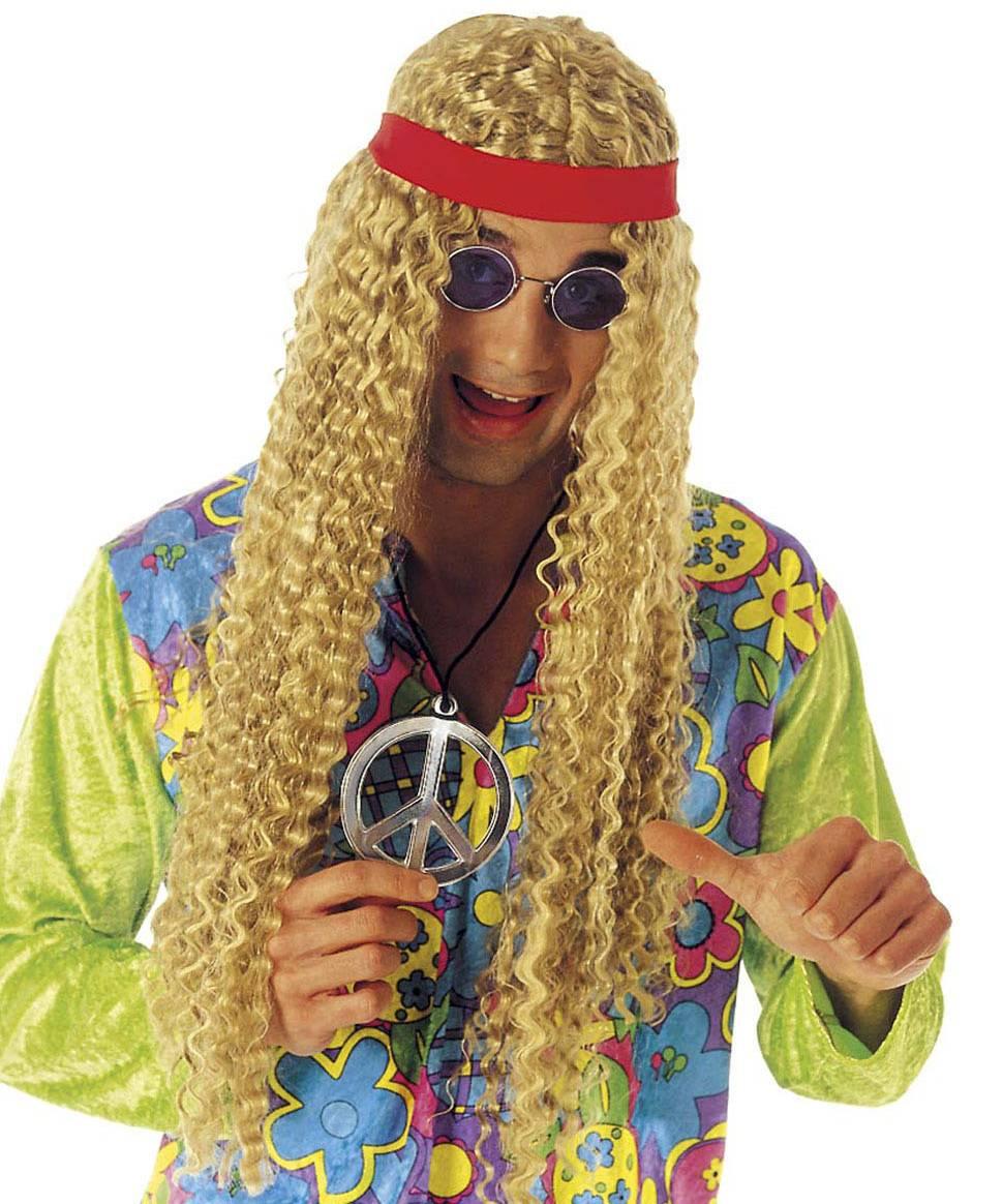 Perruque-Hippie-blonde-mixte
