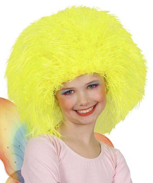 Perruque-Touffe-jaune-neon