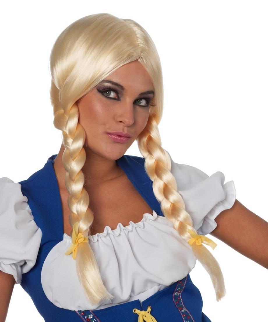 Perruque-tressée-blonde
