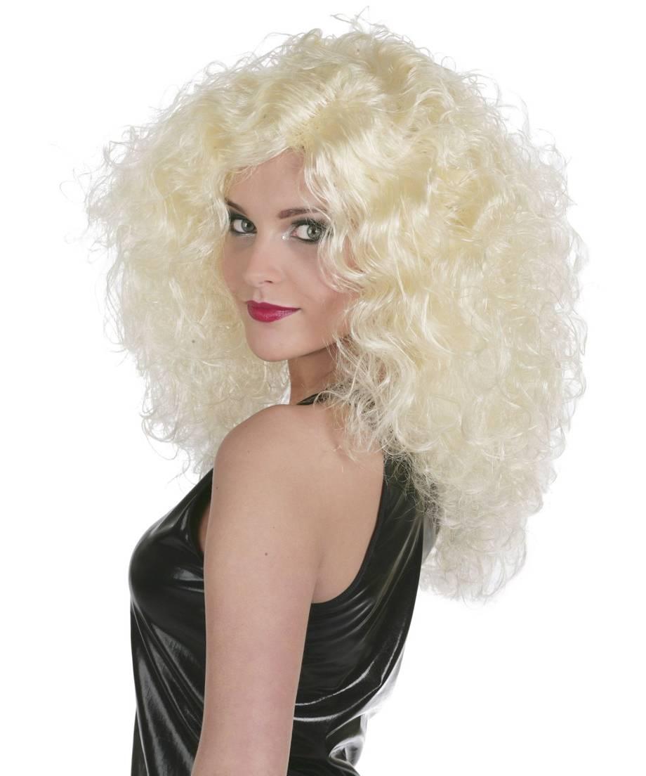 Perruque-Disco-blonde-volumineuse