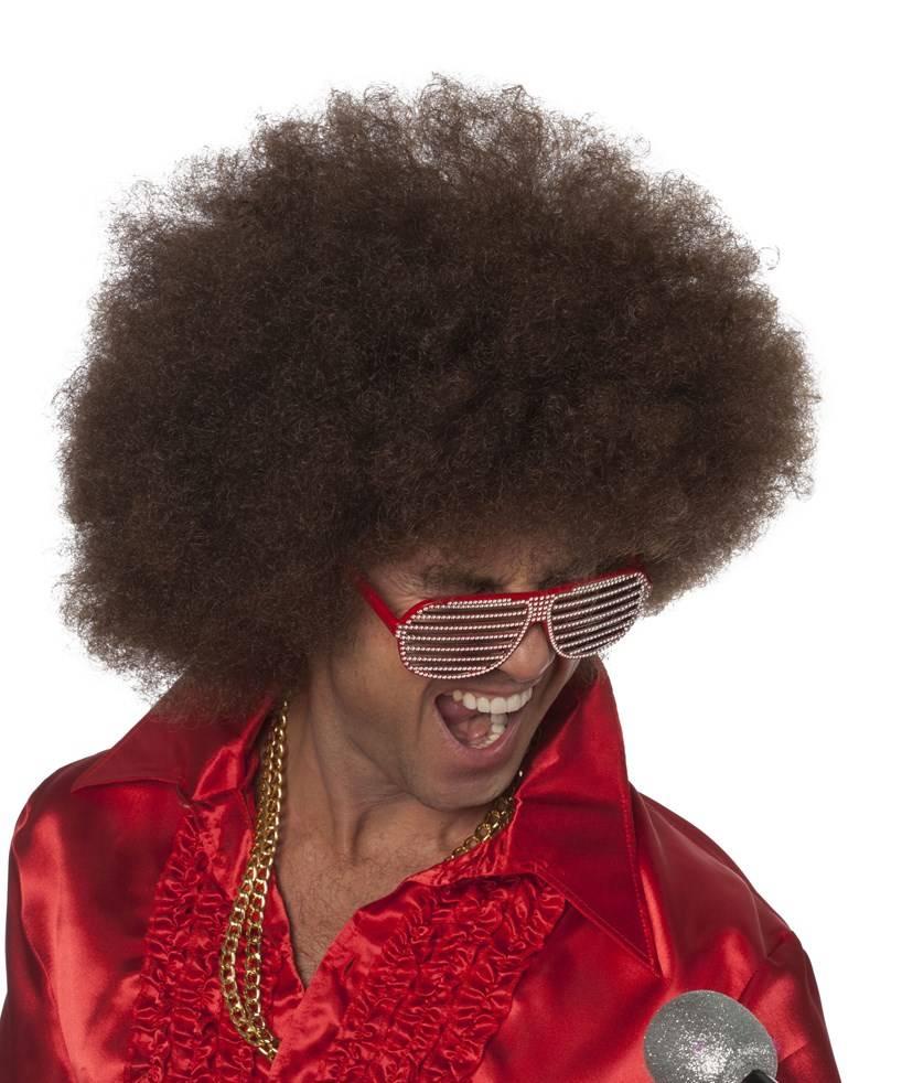 Perruque-Afro-géante-Brune