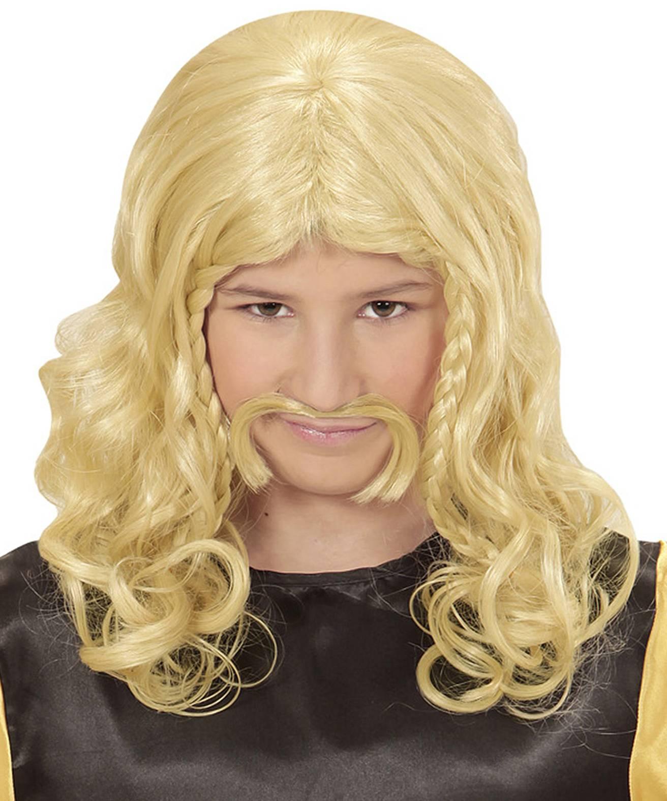 Perruque-Gaulois-Blond-enfant