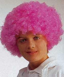 Perruque-Bouclée-rose-fluo