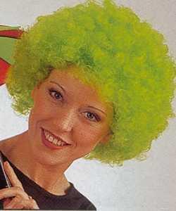 Perruque-Bouclée-vert-fluo