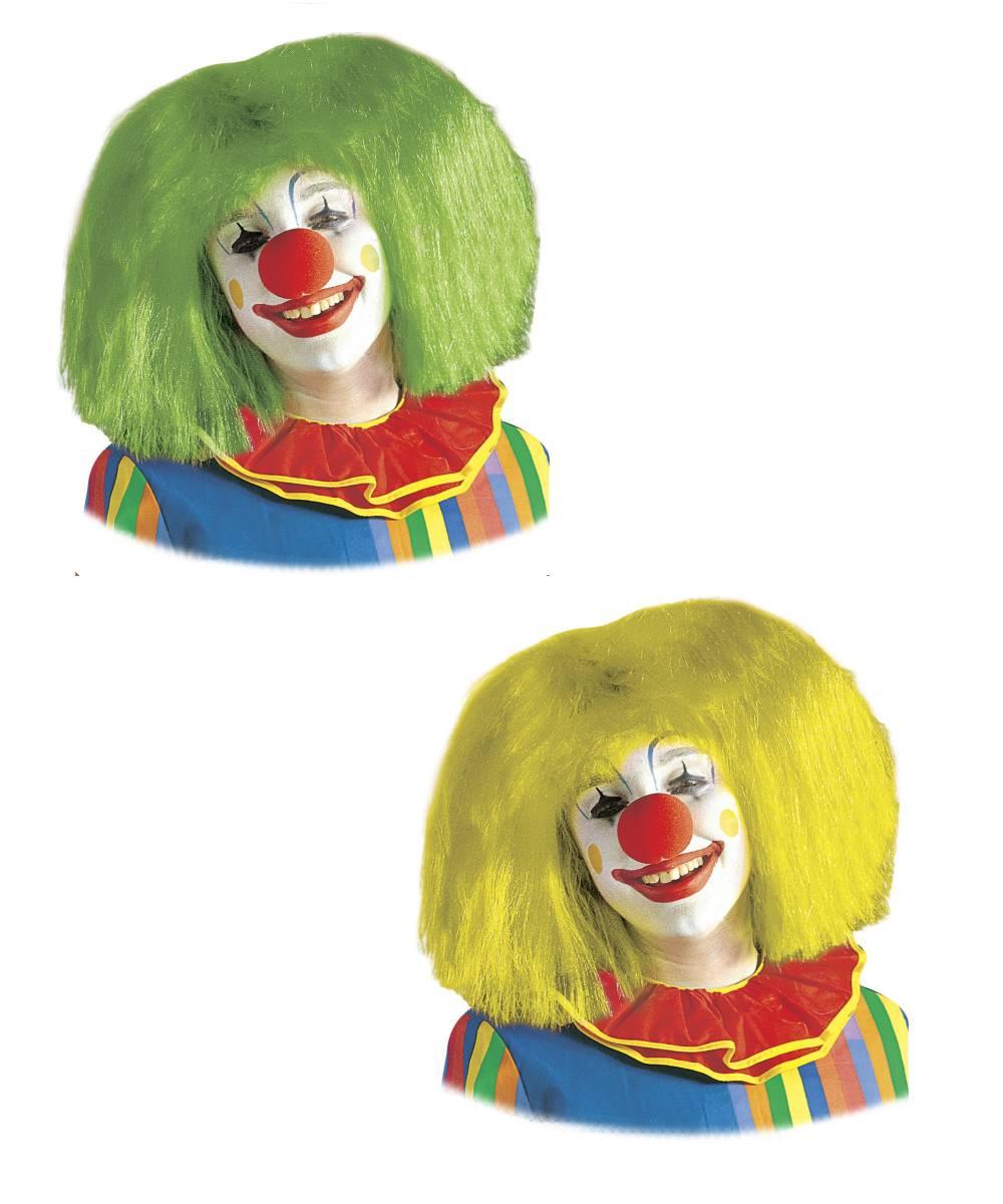 Perruque-Clown-Lisse-Fluo