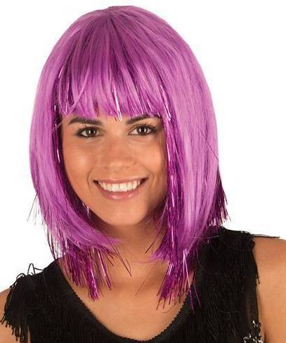 Perruque-Disco-Violette