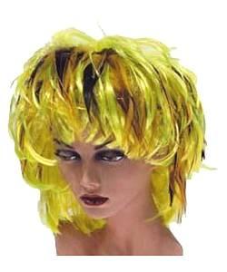 Perruque-Plumes-jaune