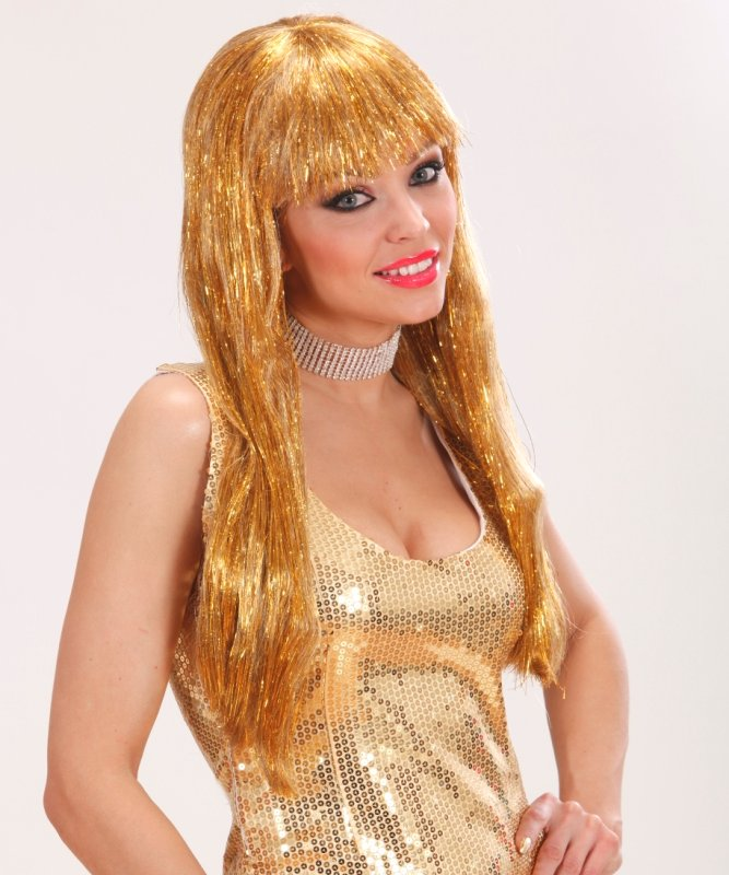 Perruque-disco-or-cheveux-longs