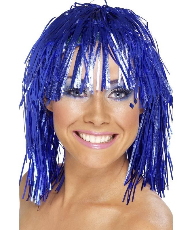 Perruque-Disco-Bleue
