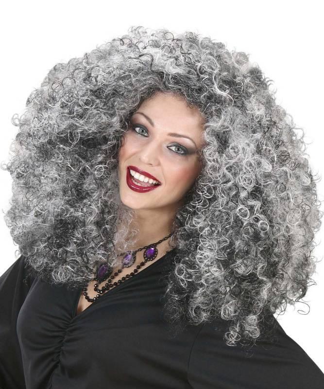 Perruque-Bouclée-noir-blanc