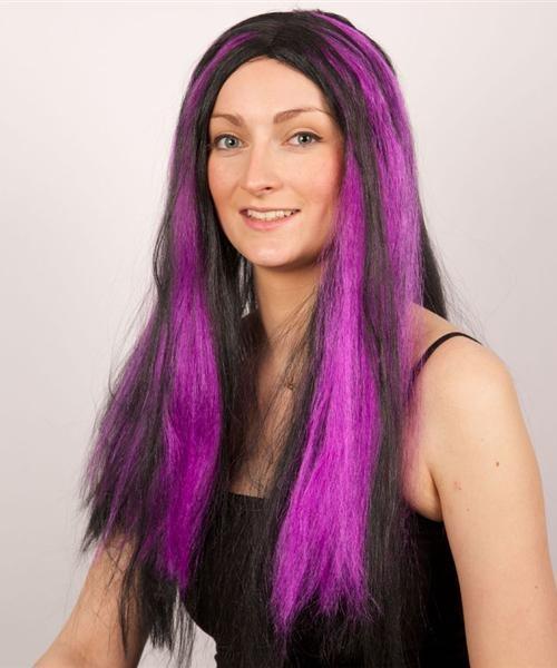 Perruque-Longue-Mèches-Violette