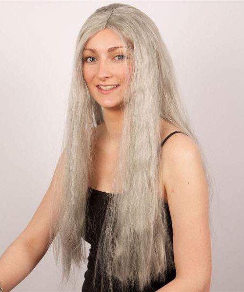 Perruque-Sorci�re-Extra-longue-grise