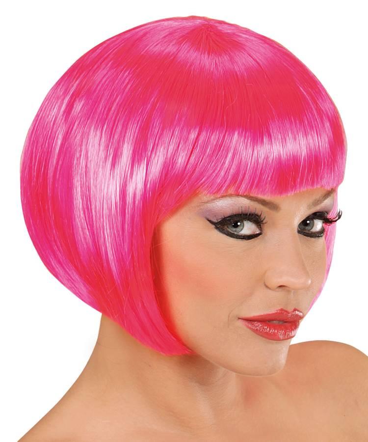 Perruque-rose-courte