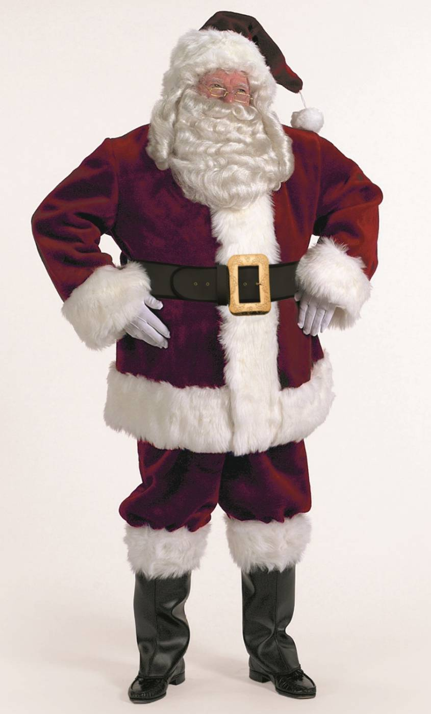 Costume-de-Père-Noël-Haut-de-gamme-Professionnel