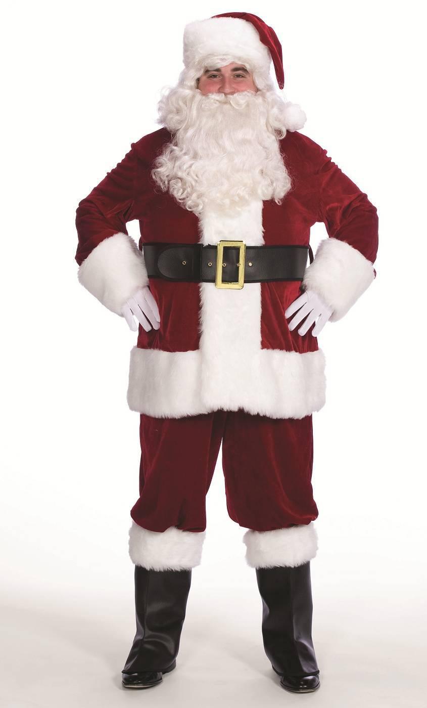 Weihnachtsmannkostüm-komplett-Samt