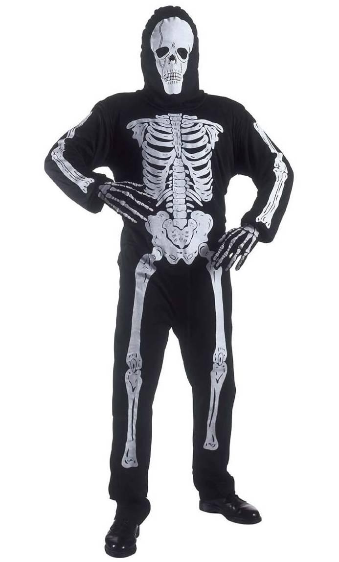 Costume de squelette homme xl