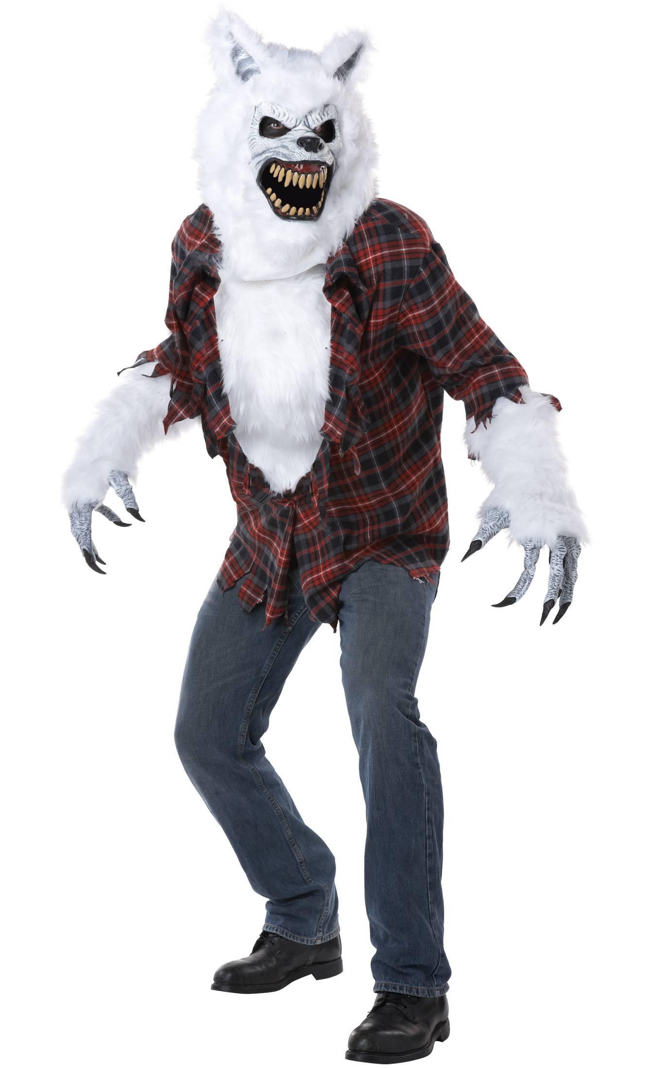 Costume loup garou blanc