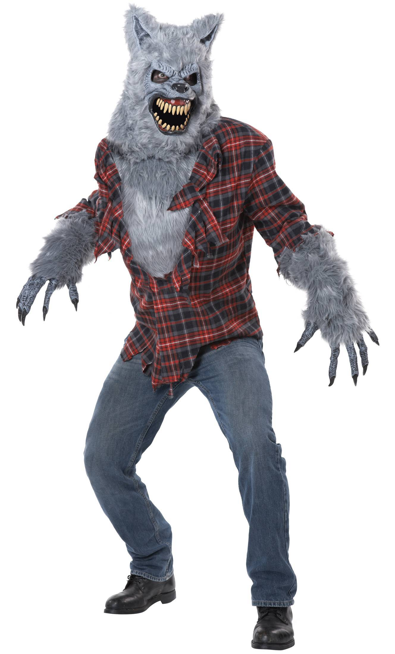 Costume loup garou gris