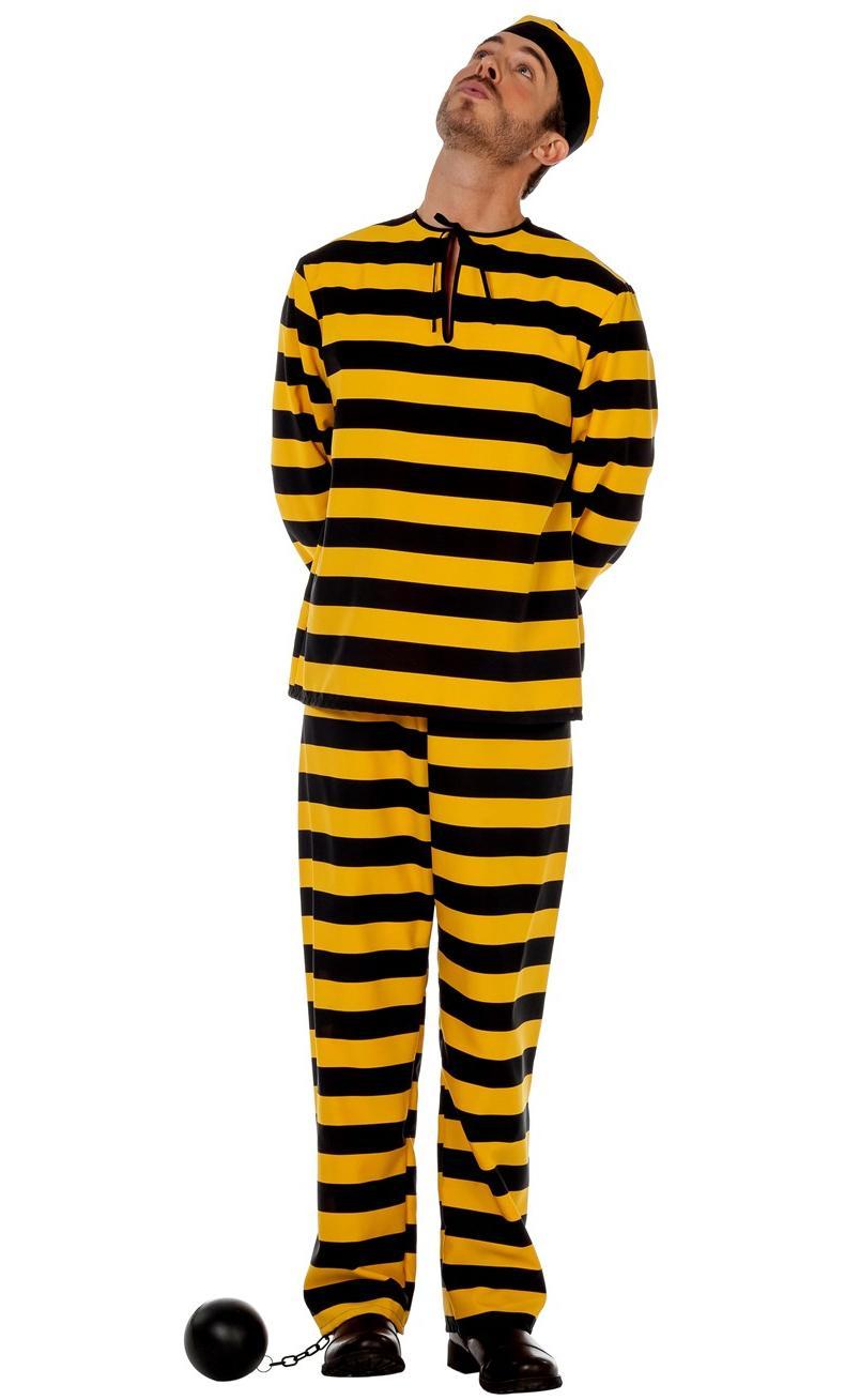 Déguisement-Prisonnier-jaune-noir
