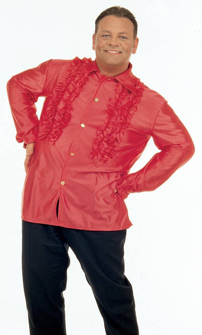 Chemise-Disco-rouge-Grande-Taille-XL