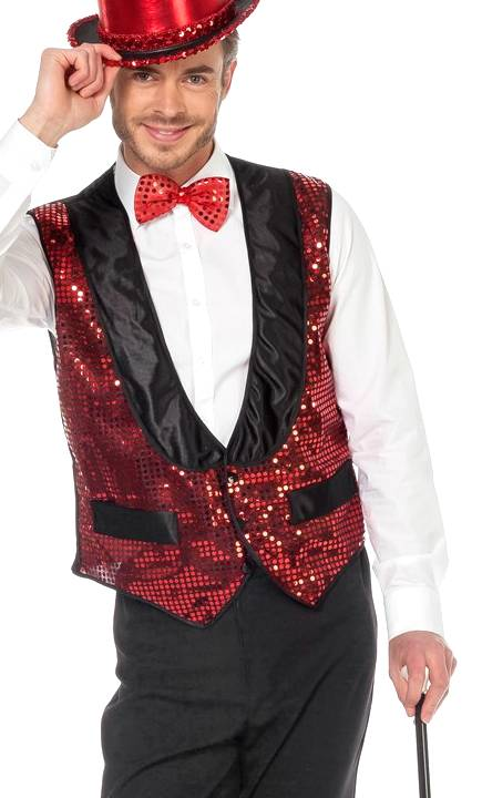 Gilet-paillettes-rouge