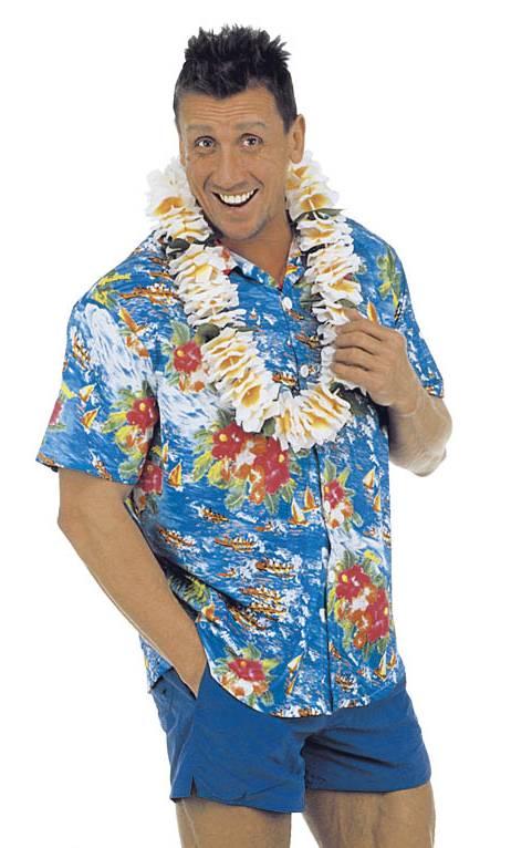 Chemise-Hawaï-Bleue