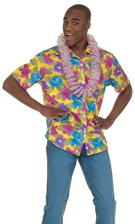 Chemise-Hawaï-Homme-Jaune