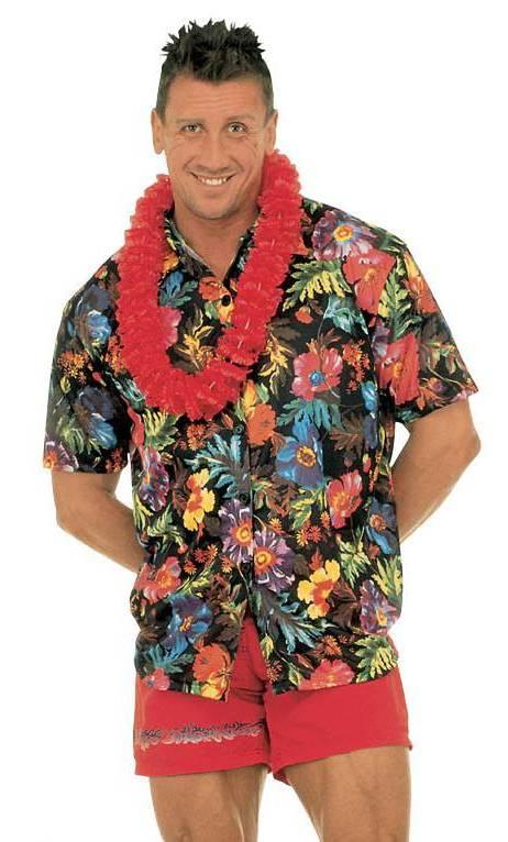 Chemise-Hawaï-Noire