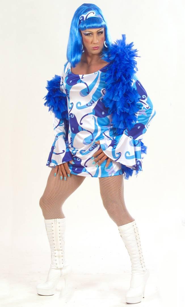 costume drag queen 70s v19348. Black Bedroom Furniture Sets. Home Design Ideas