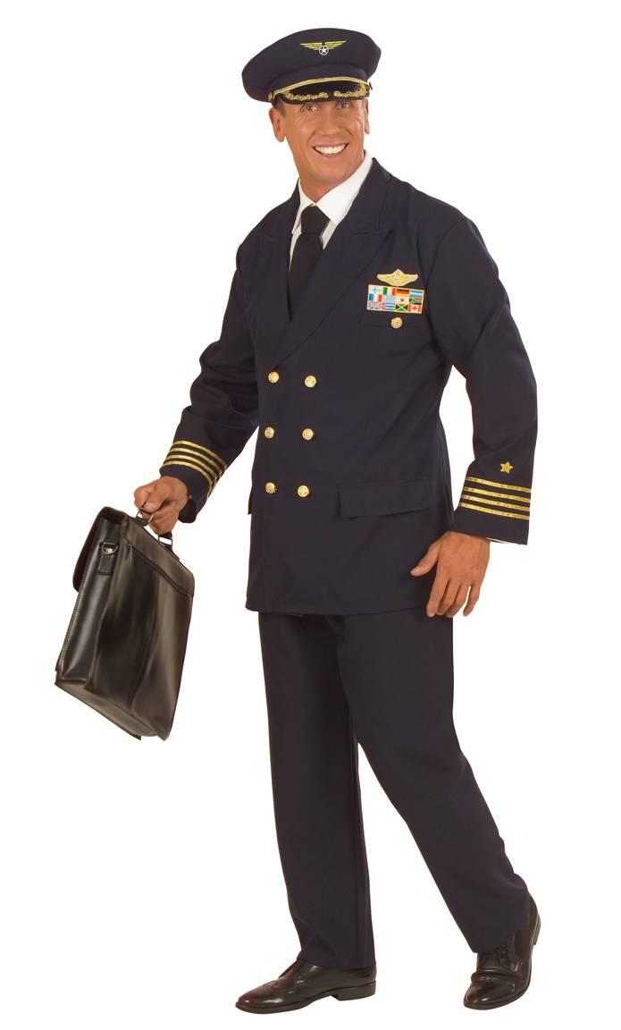 Costume de pilote de ligne pour homme