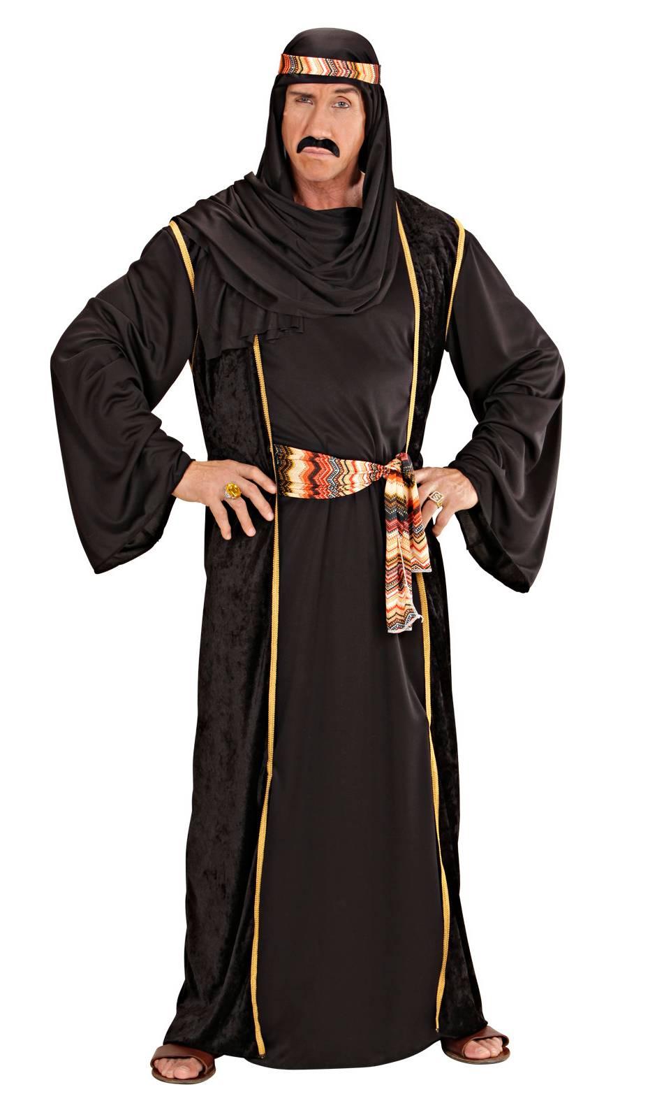 Costume sheik noir homme