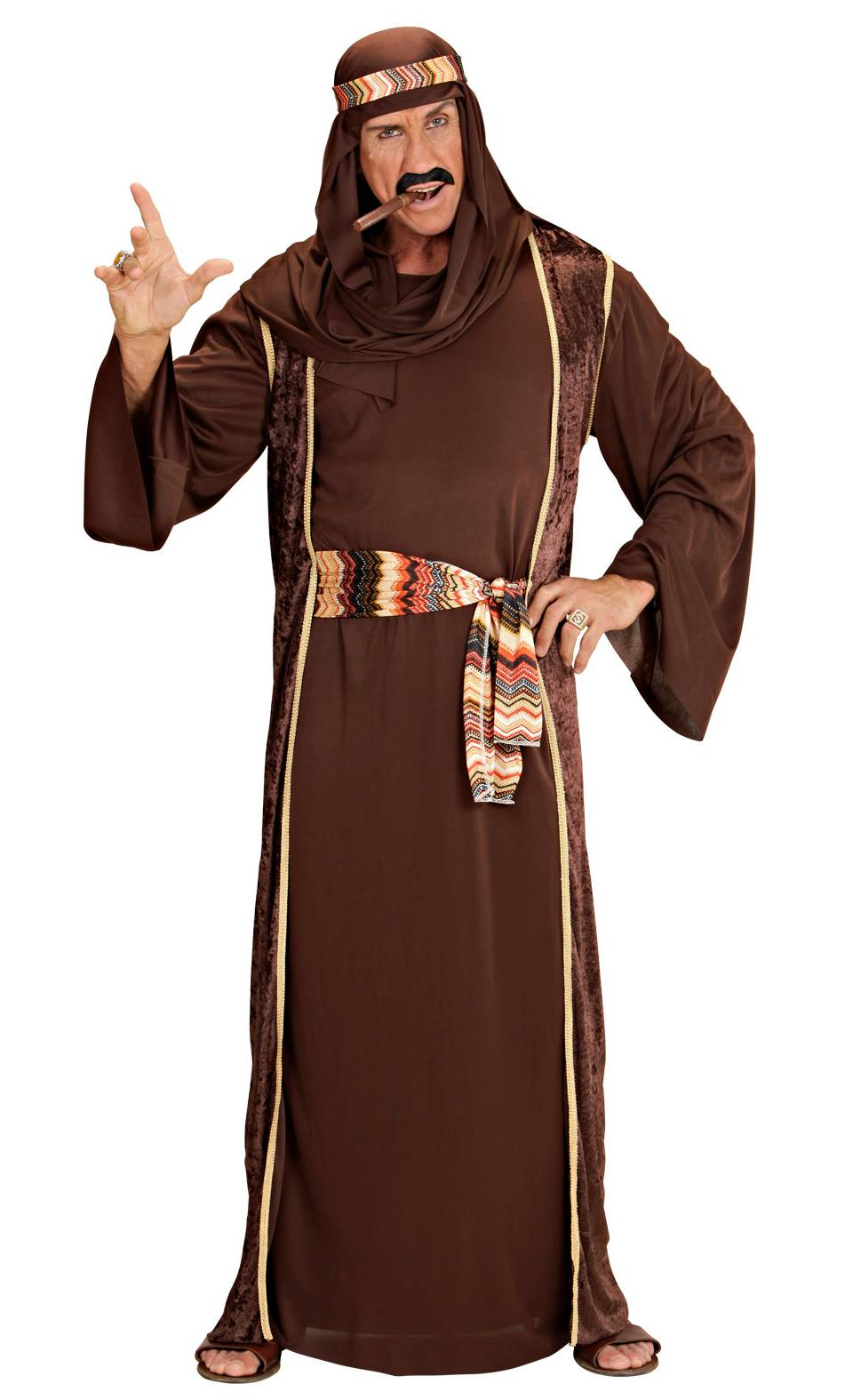 Costume sheik marron homme